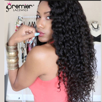PREMIER LACE WIGS Youtube Guru Jayla Koriyan Full Lace Wigs Brazilian Virgin Hair Gorgeous Sexy Big Curls [CL 04 Jayla]