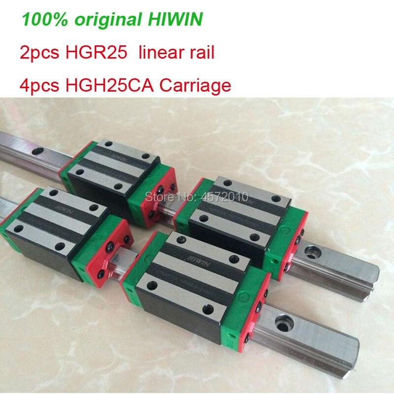 2pcs 100% original HIWIN linear rail guide HGR25 - 200mm 250mm 300mm 350mm + 4pcs HGH25CA or HGW25CA linear carriage2pcs 100% original HIWIN linear rail guide HGR25 - 200mm 250mm 300mm 350mm + 4pcs HGH25CA or HGW25CA linear carriage