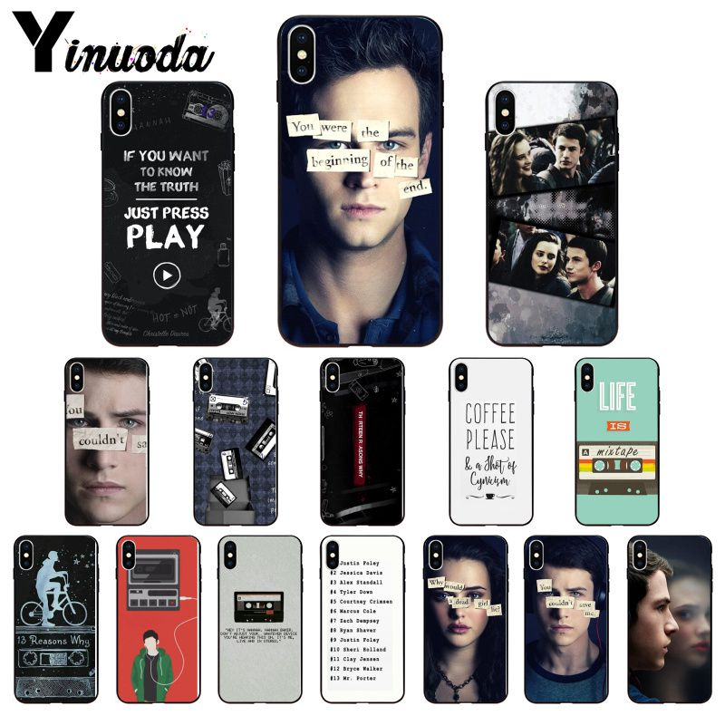 11pro MAX 13 Reasons Why Smart Cover Black Soft Shell Phone Case for iPhone 5 5Sx 6 7 7plus 8 8Plus X XS MAX XR image
