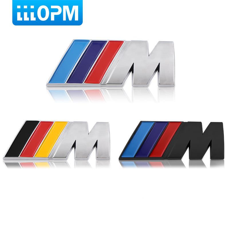 1X Car Sport M Logo Fender Side Grill Badge Emblem ABS Stickers For BMW M3 M5 E36 E39 E30 E60 E90 F30 E53 X3 X5 X6 Car styling leahter key holder car styling emblem wallets shell case for bmw m 1 3 5 7 series m3 m5 x1 x3 x5 e34 e36 e38 e39 e46 e30 e92 f30