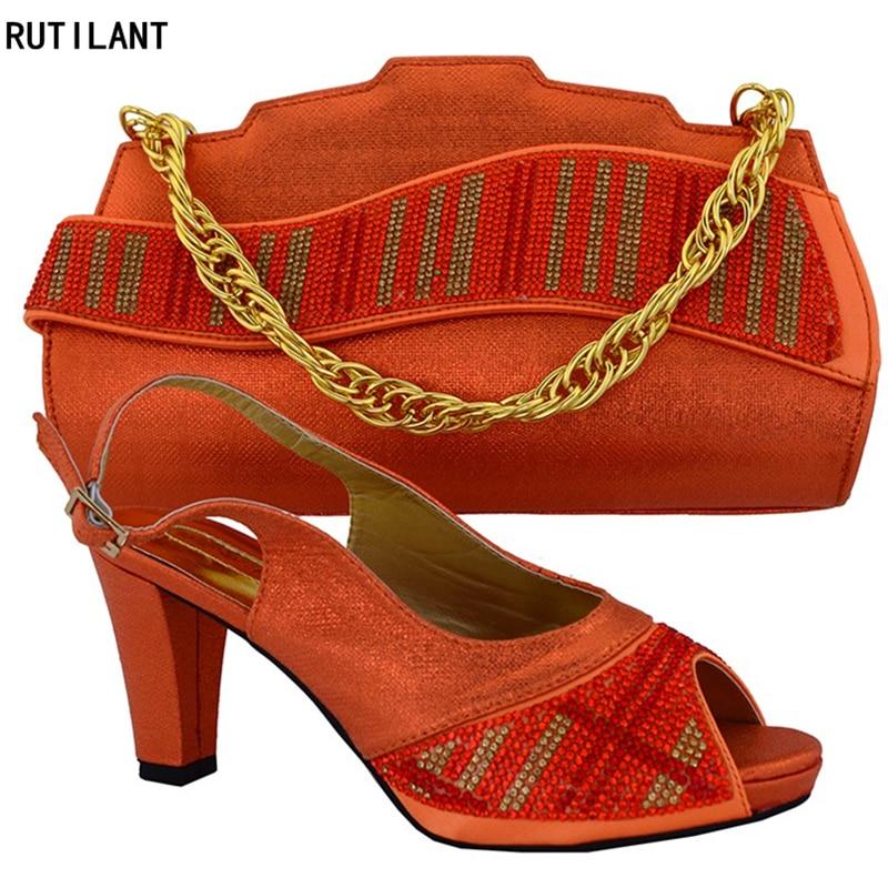 Para La Azul Italia Fiesta A oro Juego En Y Señoras Boda Zapatos Decorado naranja Mujeres rojo Rhinestone Bolsa púrpura Con Bolsos Italianos qt8wFOYTX