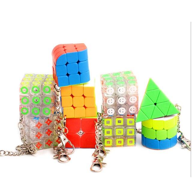 ZCube Mini Bonito Pequeno 3x3x3 2x2x2 Chaveiro Velocidade Puzzle Cube Mini Acessórios para As Crianças Brinquedos de Presente Transparente Mini Cubo Magico