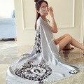 Осень ретро печати хлопок шарфы Женский поп камень шаблон печатной шарфы