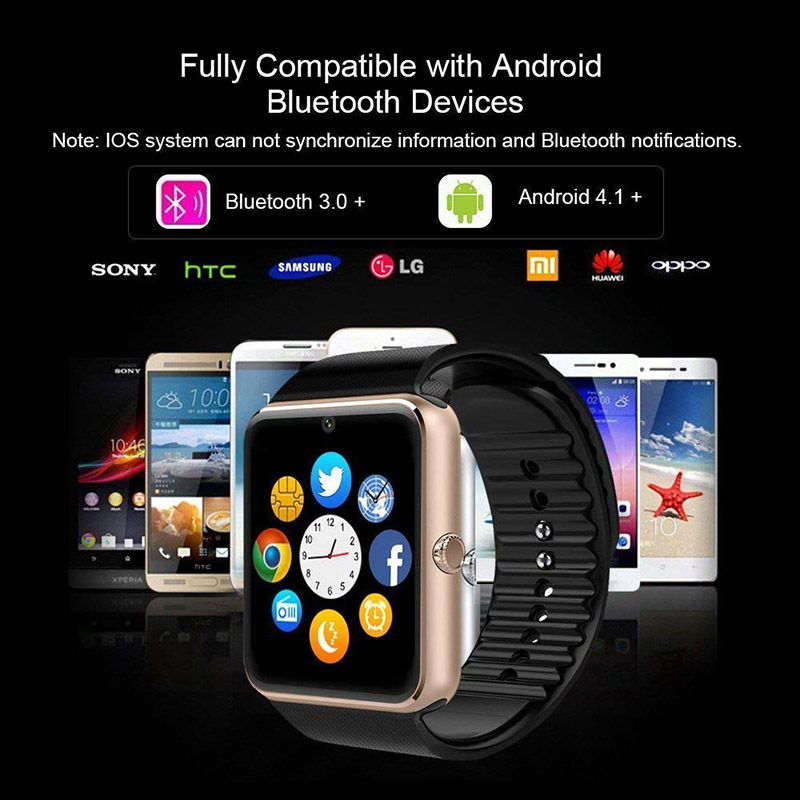 zk20 Smart Watch GT08 Clock Notifier Support Sim TF Card Bluetooth