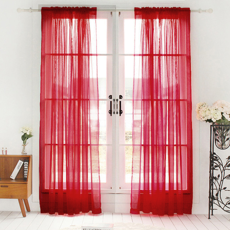 Solid Color Curtains Black Window Modern Living Room Balcony Kitchen ...
