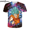 Camiseta dragon ball anime 3d galaxy dragon ball z goku roupas da moda verão dos homens/boy super saiyan t camisas o pescoço