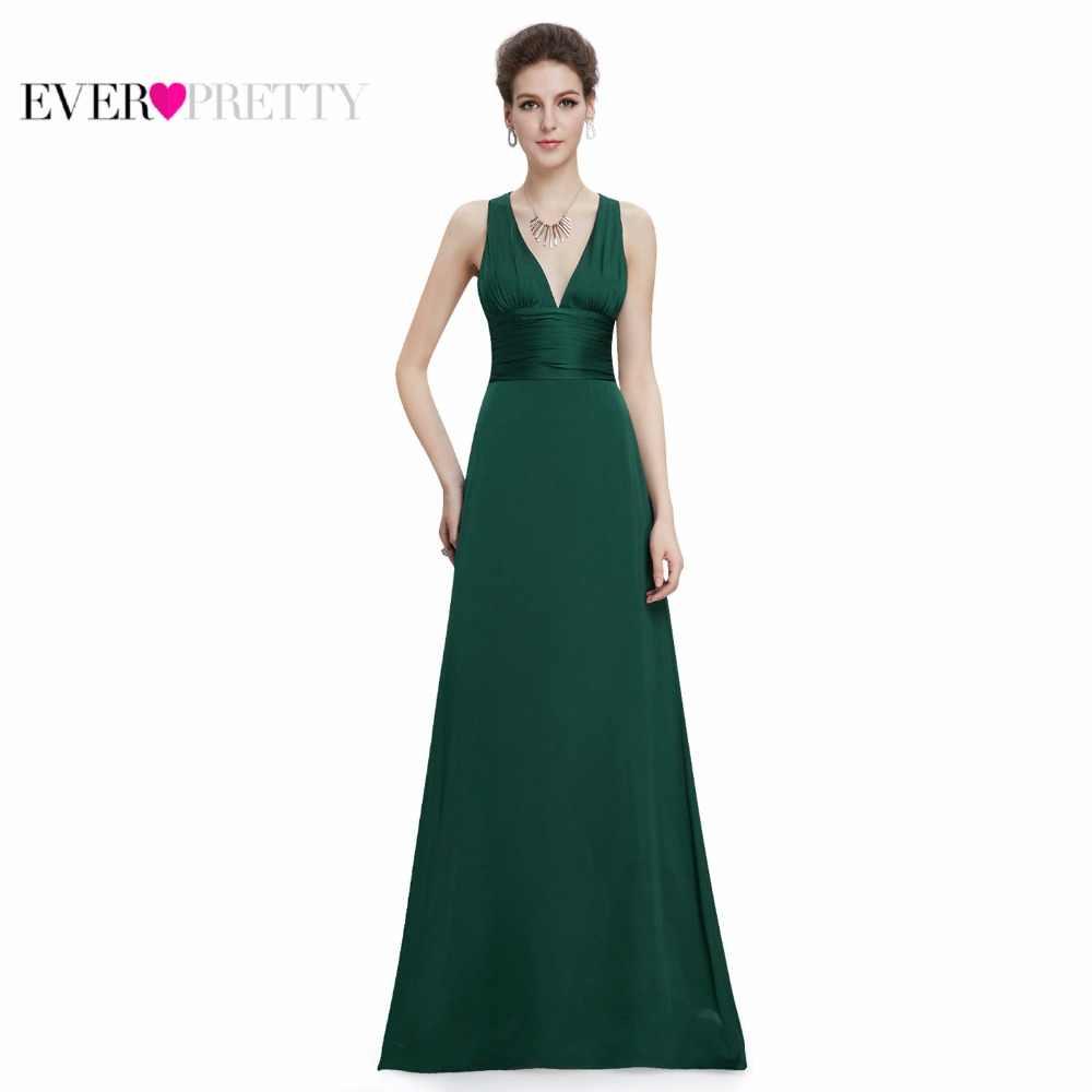 4605c901092 ... Постоянно довольно Для женщин элегантные пикантные вечерние платья v-образным  вырезом шифон спинки Винтаж Без ...