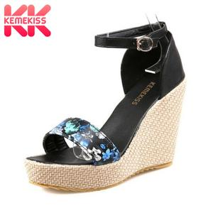 c362e31f358f KemeKiss Wedges Sandals Platform Shoes Women Open Toe