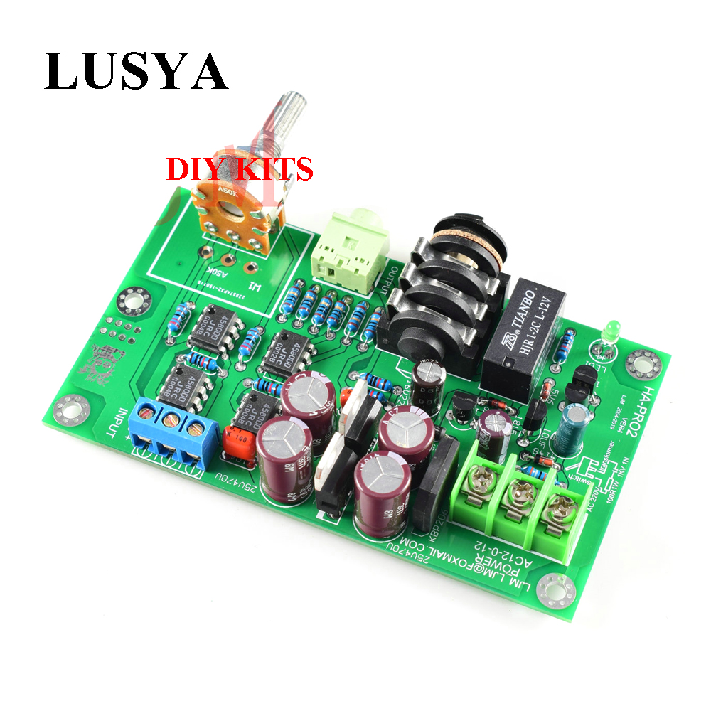 Lusya HA-PRO2 Ultra Low Noise Low Distortion Headphone Amplifier Monitor Level Headphone Amplifier Board DIY Kits A8-018