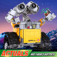 Newest Lepin 16003 687pcs Dea Robot WALL E Building Set Kits BlocksBringuedos Legeod Minifigures Bricks Cute