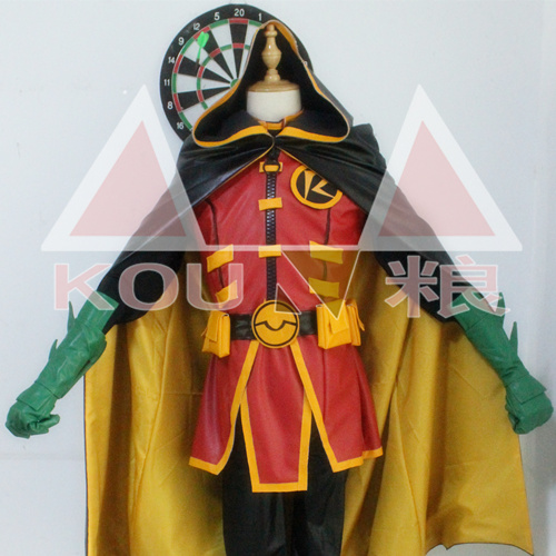 [Customize]Anime Damian Wayne Robin Rebirth Uniform Cloak+Shirt+Vest+Armor+Gloves+Pants+Mask Cosplay Costume Halloween Free Ship
