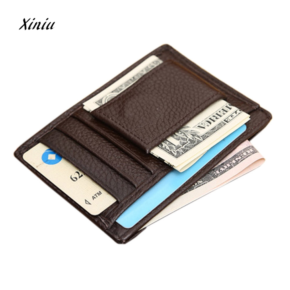 2018 Hot Sale Mens Wallet Credit ID Card Holder Slim Purse Male Gift Leather Coin Small Bag Men Business Card Holder On Sale