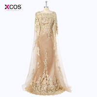 2018 New Tulle Lace Cowl Mother of the Bride Dresses for Weddings Long Plus Size Formal Women Party Gowns
