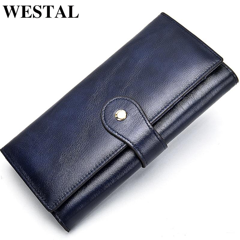 WETSAL 100 Genuine Leather Women Wallet Female Long Clutch Lady Walet Portomone Money Bag Coin Wallet