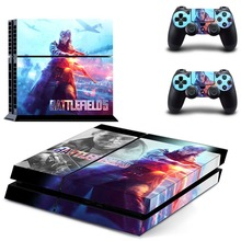Game Battlefield V 5 PS4 Skin Sticker Decal Vinyl for Sony Playstation 4 Console and 2 Controllers PS4 Skin Sticker