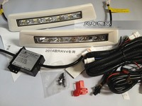 eOsuns LED daytime running light DRL for toyota RAV4 2013 2014, wireless switch, dim and auto off control, EU certification