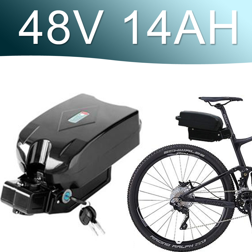 48V 1000W Lithium ion Battery 14AH battery fro g typ Rear Battery Pack 48V Electric bicycle 48v 8fun bbshd E-bike battery free customs taxes super power 1000w 48v li ion battery pack with 30a bms 48v 15ah lithium battery pack for panasonic cell