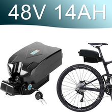 48V 1000W Lithium ion Battery 14AH battery fro g typ Rear Battery Pack 48V Electric bicycle 48v 8fun bbshd E-bike battery 48v sanyo ga battery pack 17 5ah electric bike lithium ion battery for 1000w