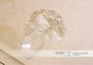 Image 5 - Silber brosche bouquet high end kundenspezifische hochzeit brautsträuße kristall diamant teardrop Braut Bouquet hochzeit dekoration