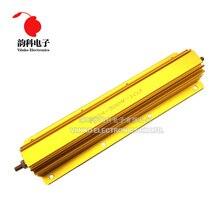 300W de Alumínio Shell Power Metal Caso Wirewound Resistor 0.1R ~ 100R 0.1 0.5 1 2 2.5 3 4 5 6 8 10 20 50 100 ohm