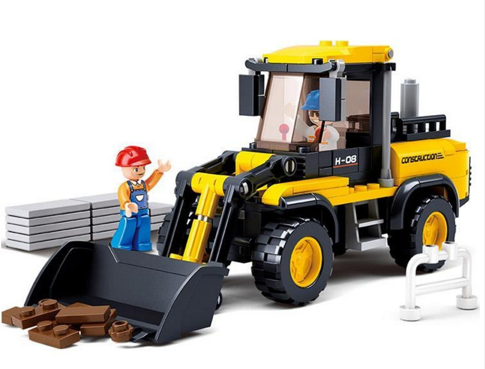 Sluban Truck Blocks Forklift SimCity Friends Enlighten Toys For Children Educational Toy ...