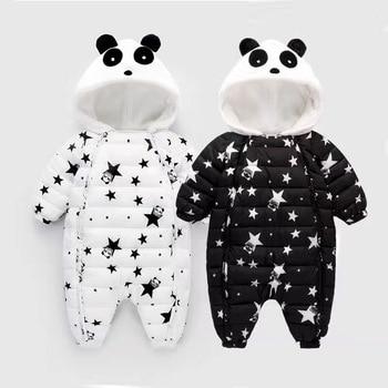 Barboteuses d'hiver épais chaud Garçons Petit Panda