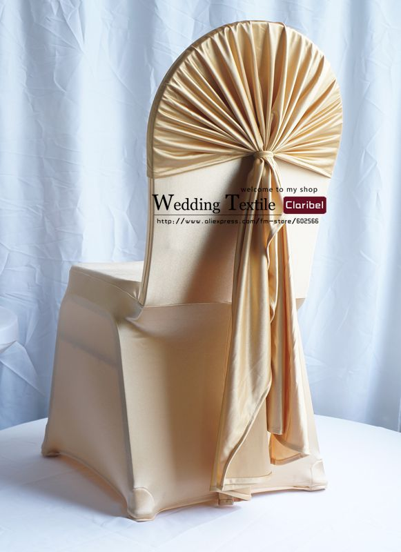 wedding chair sash folding ikea canada free shipping new style gold stripe satin cap/new hood/big cover for ...