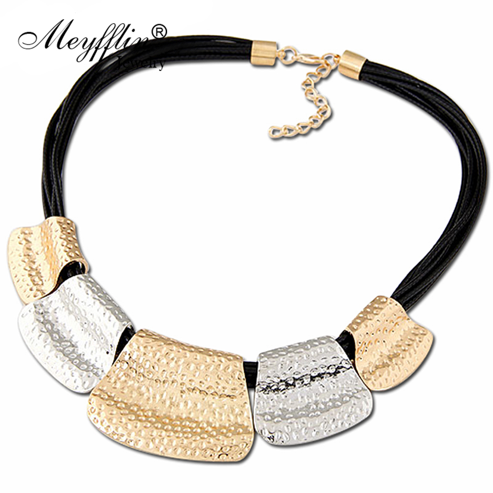 2019 Collares Fashion Statement Necklaces & Pendants For Women Multilayer PU Leather Necklace Maxi Collier Femme Choker Bijoux