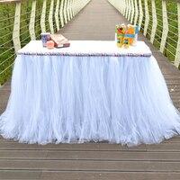 טול טוטו חצאית שולחן מקלחת תינוק הילדים מסיבת יום הולדת קישוט רקע