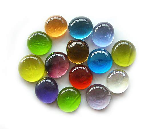 80 Pcs Mixed Color Decorative Glass Marble Pebbles Stones For Vase