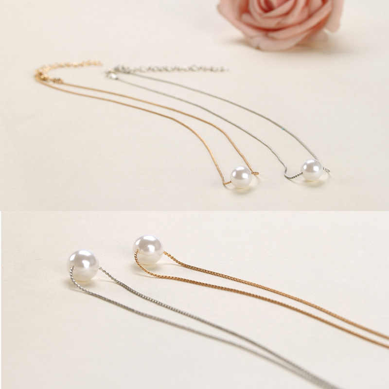 Simple Imitation Pearl Necklace Women Korean Stlye Choker Necklaces Pendants Jewelry Colar Statement Necklace Collares Jewellery