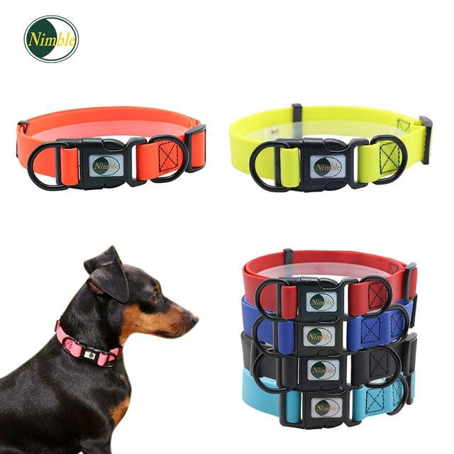 AGILE Collari Per Cani Collare Regolabile Imbottito Su Misura IN PVC A Piedi Cor