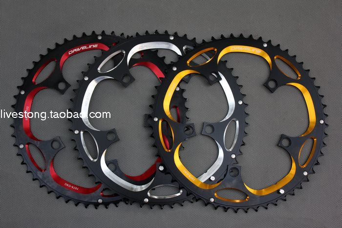 DRIVELINE 7075 aluminum CNC 53 56T road chainring crankset chainrings tooth disc dental plate black with