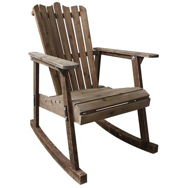 € 127.43 5% de réduction|Mobilier d\'extérieur chaise à bascule en bois  rustique Style campagnard américain Antique Vintage adulte grand jardin ...