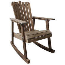 Outdoor Furniture Wooden Rocking Chair Rustic American Country Style Antique Vintage Adult Large Garden Rocker Armchair
