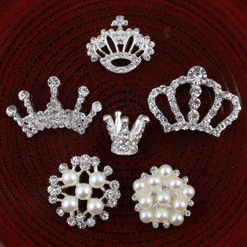Ev ve Bahçe'ten Düğmeler'de 120 ADET El Yapımı Vintage Metal Dekoratif Düğmeler Kristal Inci Çiçek Merkez Alaşım Flatback Rhinestone Düğmeler Zanaat Malzemeleri'da  Grup 1