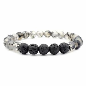 Bracelet Essential-Oil Volcano-Lava Natural-Stone Grain Rock-Beads Black Women And 8MM
