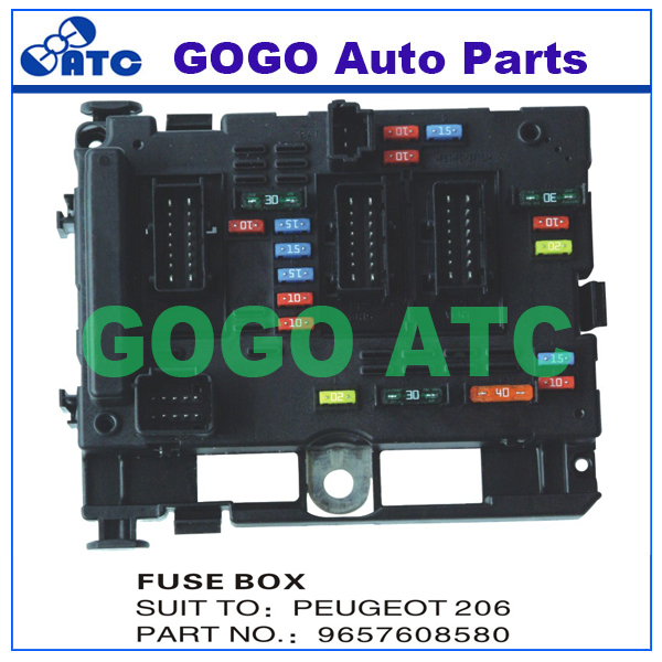 Fuse Box Unit Assembly For P eugeot 206 OEM 9657608580 aliexpress com buy fuse box unit assembly for p eugeot 206 oem buy fuse box 1987 chevy silverado at reclaimingppi.co