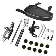 MIX in 1 Mountain Bicycle Tools set Bike Repair Kit Set with Pouch Pump Black Accessories Screwdriver Tool