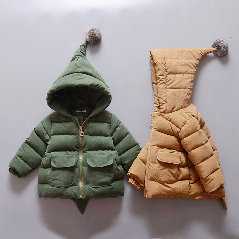 Down jacket for Girls Boys Children Winter Coat Kids Warm Jacket Cotton Padded Parkas Christmas Hooded Outerwear Clothes 1-3Y girls jacket spring autumn winter coat cotton padded hooded kids winter jacket for girls clothes children clothing parkas girl