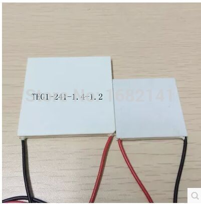55x55MM 7V 1.25A 55x55 Thermoelectric Power Generation Peltier Cooler Cooling CoolModule TEG1-241-1.4-1.2 2pcs 40 40mm thermoelectric power generator high temperature generation element peltier module teg high temperature 150 degree