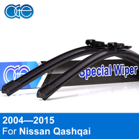 OGE Front Wiper Blade For Nissan Qashqai 2007 2013 24 15 Pair Natural Rubber Car Accessaries