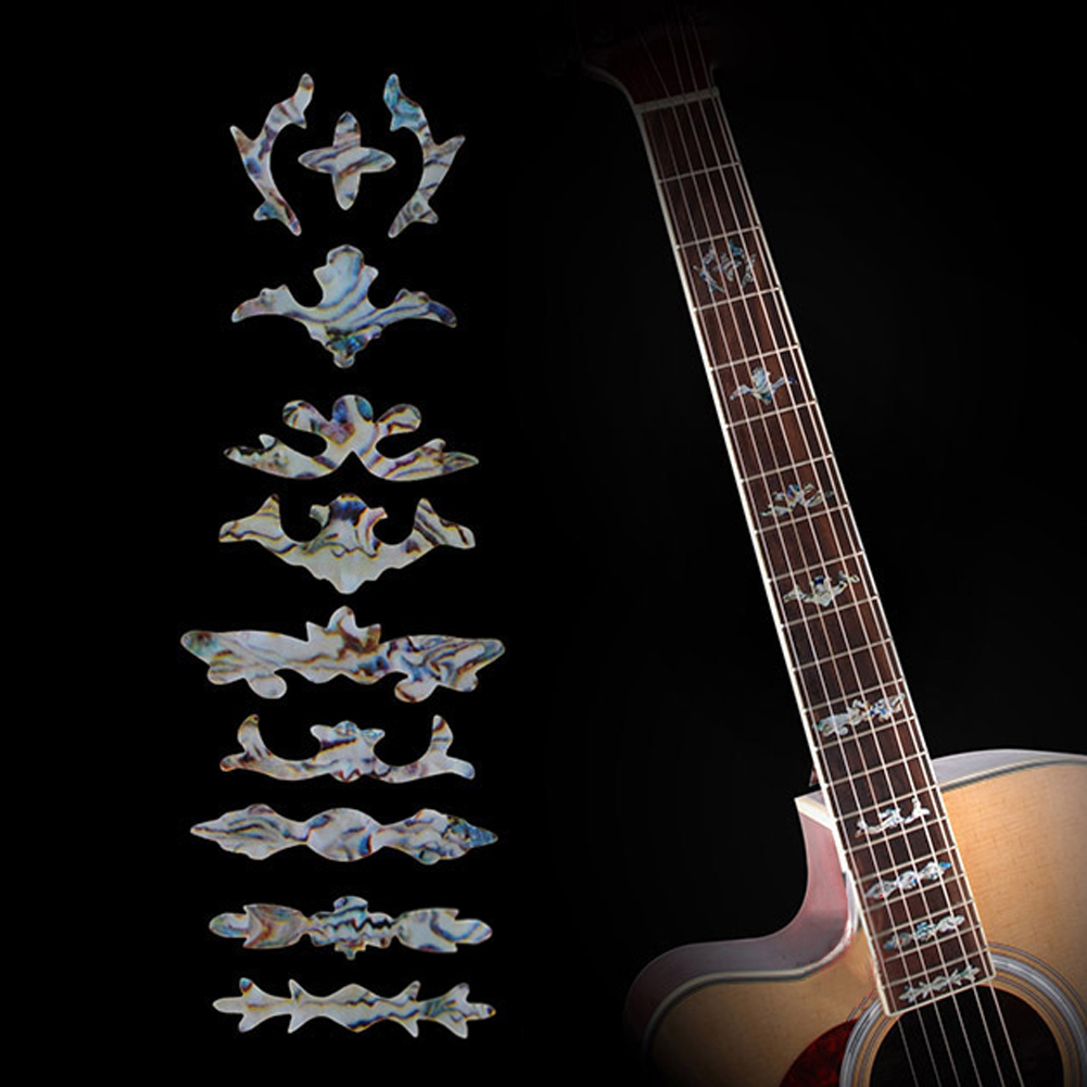 Electric Acoustic Guitar Stickers Bass Guitar Bass Inlay Sticker Fretboard Marker Fret Decal Decorate For Guitar Accessories