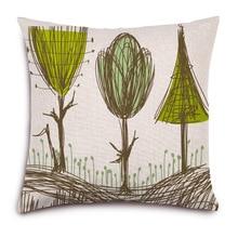 High Quality Pillow Covers Graffiti New Designs Fashion Style45X45CM Linen Pillow CoverHome Decorative cushion case