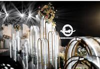 Wedding props, wrought iron geometric arches, screens, Best Foot Forward road, wedding arrangemnet stage background decoration .