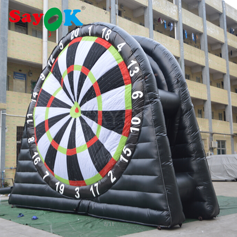 Hot Double side Inflatable Soccer Dart Inflatable Football Dart Double deck Board Games Large 4m(13.1ft) Height PVC