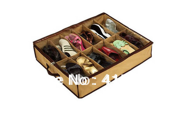 free shipping Closet Organizer Under Bed Storage Holder shoe Box Container Case Storer For 12 Shoes !