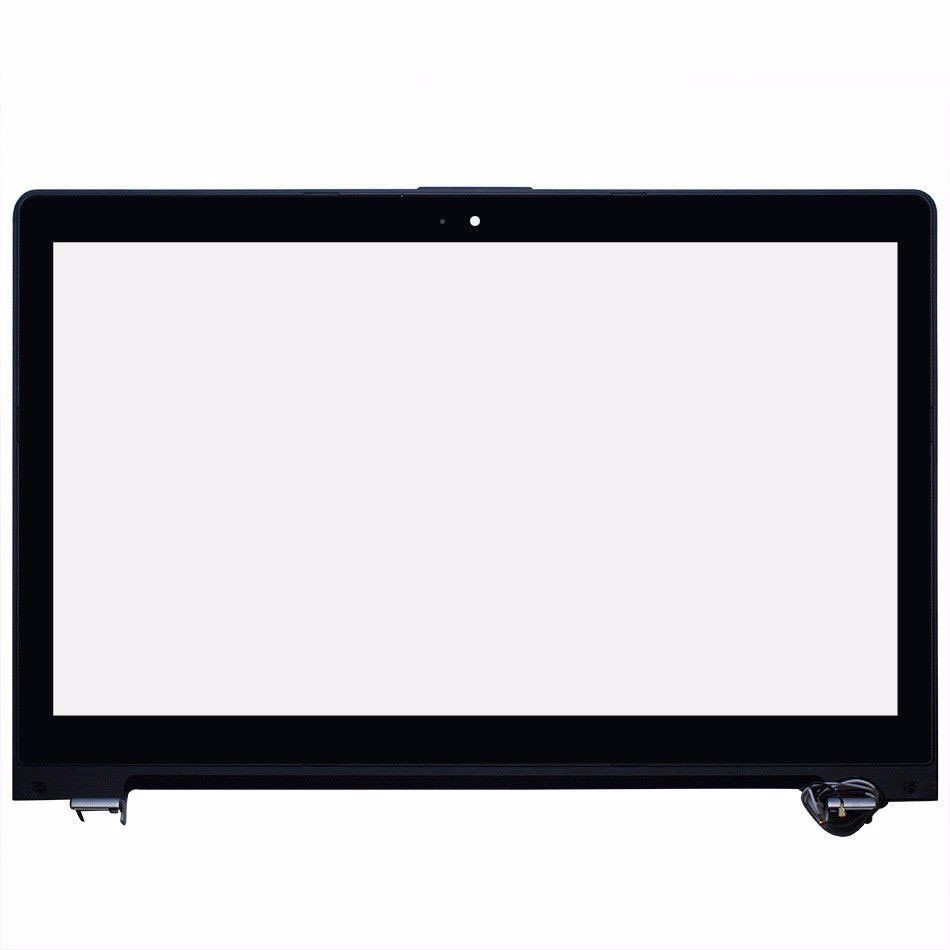 15 6 inch front Touch Screen panel Sensor outer Glass Digitizer with frame Replacement parts For