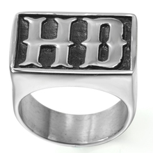 Size 7-15 Stainless Steel Biker Ring Motor Cycle Jewelry Hiphop Signet Rider Live to Ride Cocktail Initials