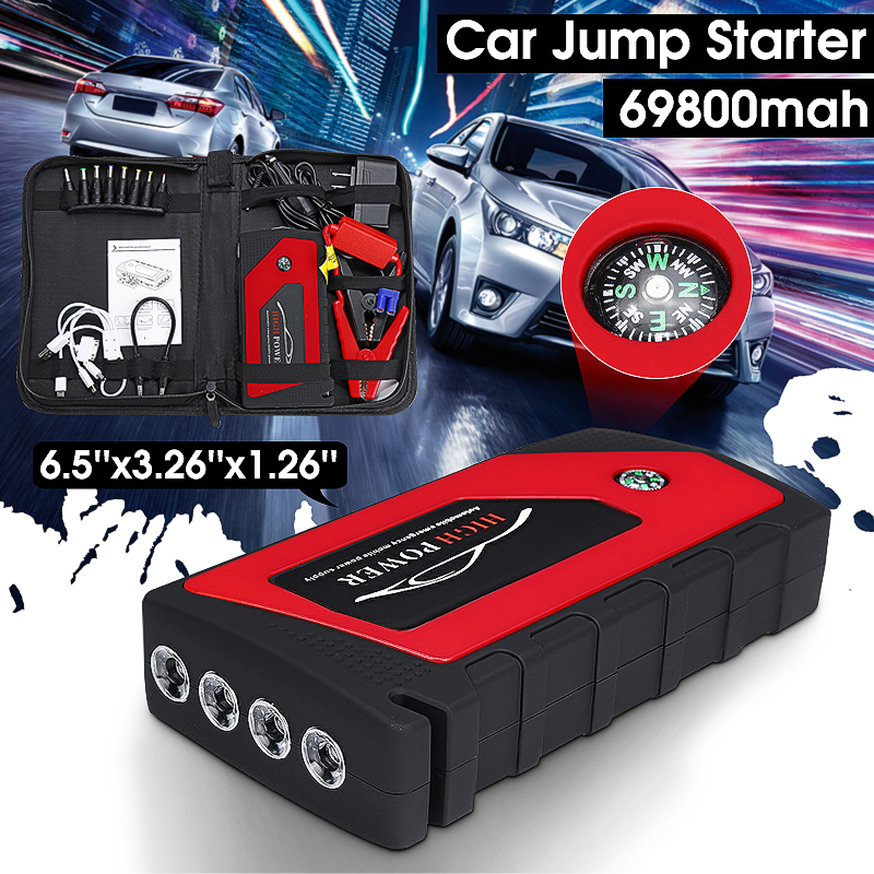 Autoleader 12V Multi-Function 69800mAh Portable Starting Device Car Jump Starter Power Bank Car Charger 4USB Output US Plug practical 89800mah 12v 4usb car battery charger starting car jump starter booster power bank tool kit for auto starting device